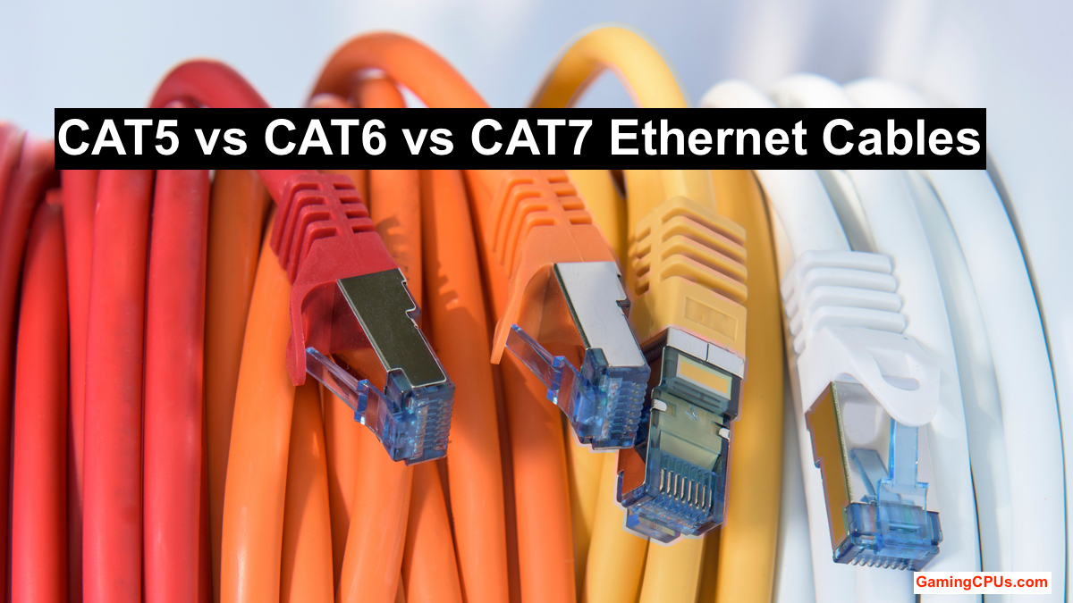 Cat5 Vs Cat6 Vs Cat7 Everything About Ethernet Cables Gaming Cpus